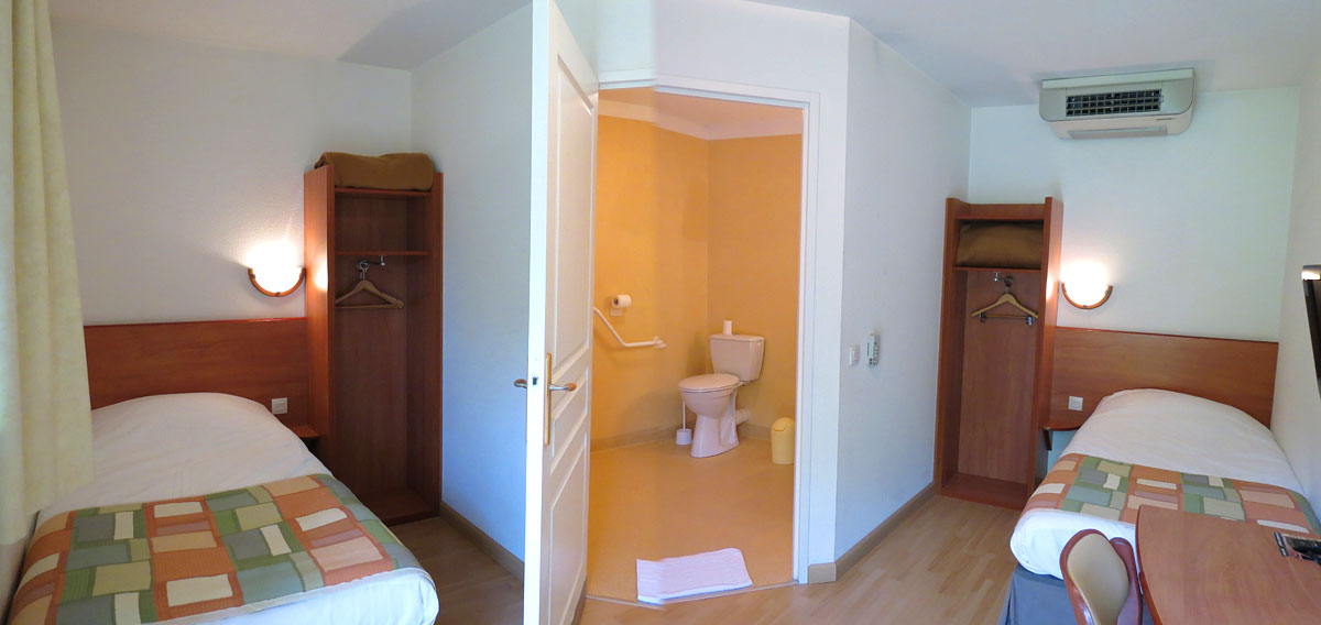 Rooms for people with reduced mobility
